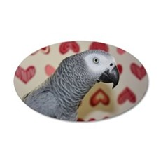Valentine's Day African Grey Wall Decal