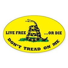 Don't Tread On Me Sticker w/ Live Free or Die (y)