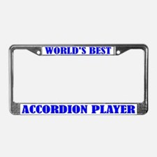 Accordion Player License Plate Frame