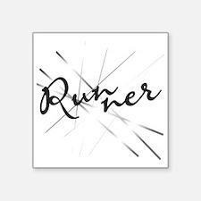 Abstract Runner Sticker