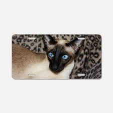 Seal Point Siamese Cat Jaze Aluminum License Plate