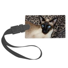 Seal Point Siamese Cat Jazell wi Luggage Tag