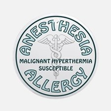 ANESTHESIA ALLERGY Ornament (Round)