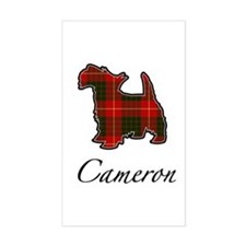Clan Cameron Scotty Dog Rectangle Decal