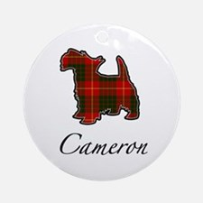 Clan Cameron Scotty Dog Ornament (Round)