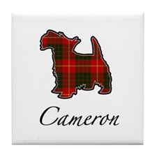 Clan Cameron Scotty Dog Tile Coaster