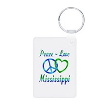 Peace Love Mississippi Keychains