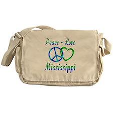 Peace Love Mississippi Messenger Bag