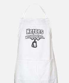 Heroes wear dog tags 2 Apron