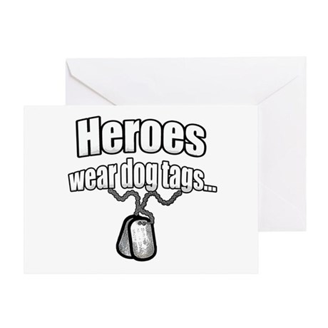Heroes wear dog tags 2 Greeting Card