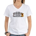 Dumb Animals Women's V-Neck T-Shirt