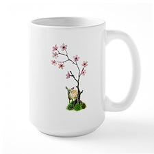 Fawn Plum Flowers Mug
