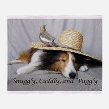 Snuggly , Cuddly and Wuggly Throw Blanket
