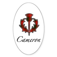 Clan Cameron Thistle Oval Decal