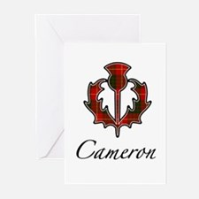 Clan Cameron Thistle Greeting Cards (Pk of 10)