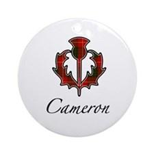 Clan Cameron Thistle Ornament (Round)