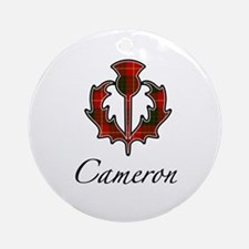 Clan Cameron Thistle Ornament (Round)