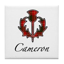 Clan Cameron Thistle Tile Coaster