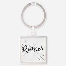 Abstract Runner Keychains