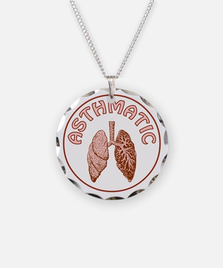 ASTHMATIC Necklace Circle Charm