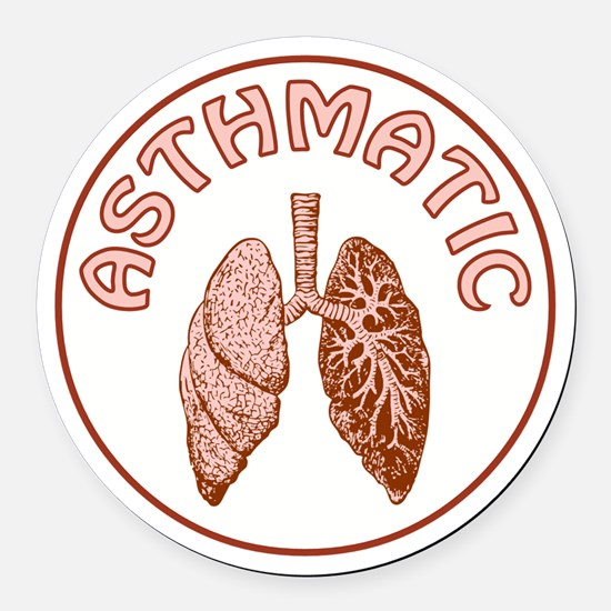 ASTHMATIC Round Car Magnet