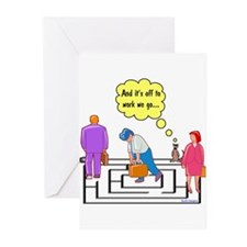 Off To Work I Go Greeting Cards (Pk of 10)