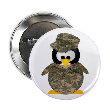 Army Penguin Button