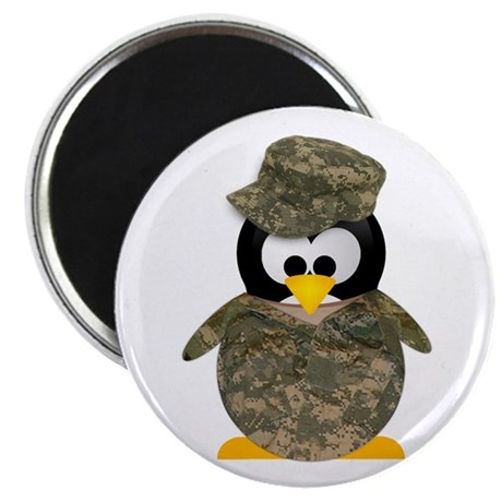 Army Penguin Magnet