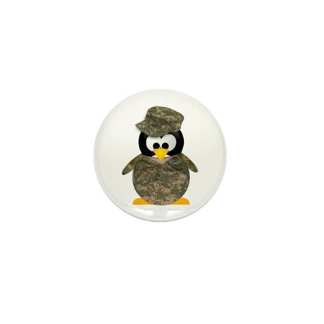 Army Penguin Mini Button