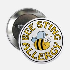 """BEE STING ALLERGY 2.25"""" Button (10 pack)"""