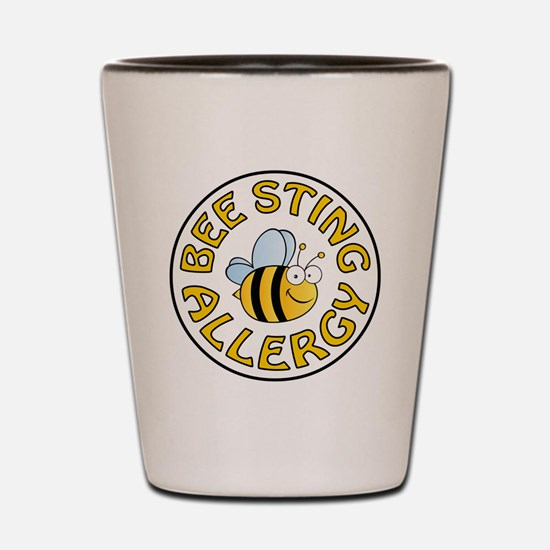 BEE STING ALLERGY Shot Glass