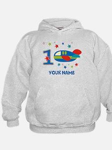 1st Birthday Airplane Hoodie