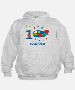 1st Birthday Airplane Hoody