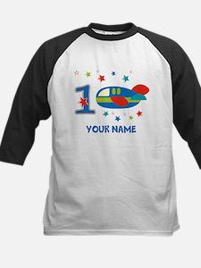 1st Birthday Airplane Kids Baseball Jersey