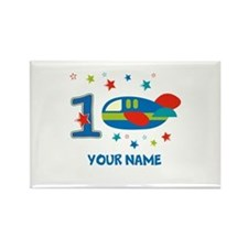 1st Birthday Airplane Rectangle Magnet