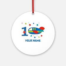1st Birthday Airplane Ornament (Round)