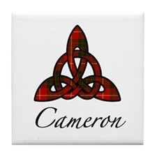 Clan Cameron Celtic Knot Tile Coaster