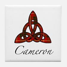 Clan Cameron Celtic Knot Tile Coaster