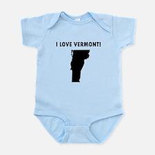I Love Vermont Body Suit