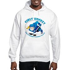 Girls' Ice Hockey Design - Blue Hoodie