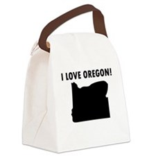 I Love Oregon Canvas Lunch Bag