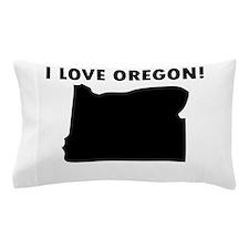 I Love Oregon Pillow Case