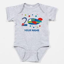 2nd Birthday Airplane Baby Bodysuit