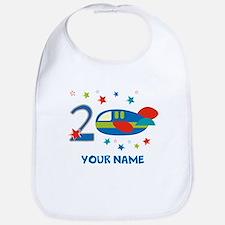 2nd Birthday Airplane Bib