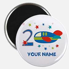 2nd Birthday Airplane Magnet