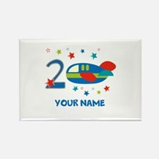 2nd Birthday Airplane Rectangle Magnet