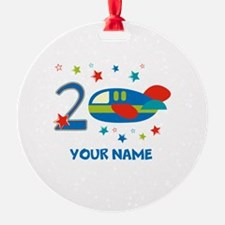 2nd Birthday Airplane Ornament