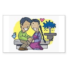 Eastern Love Sticker (Rect.)