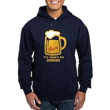 Beer Its Whats For Dinner Hoodie (Dark)