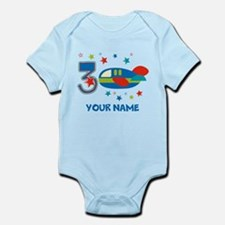 3rd Birthday Airplane Infant Bodysuit